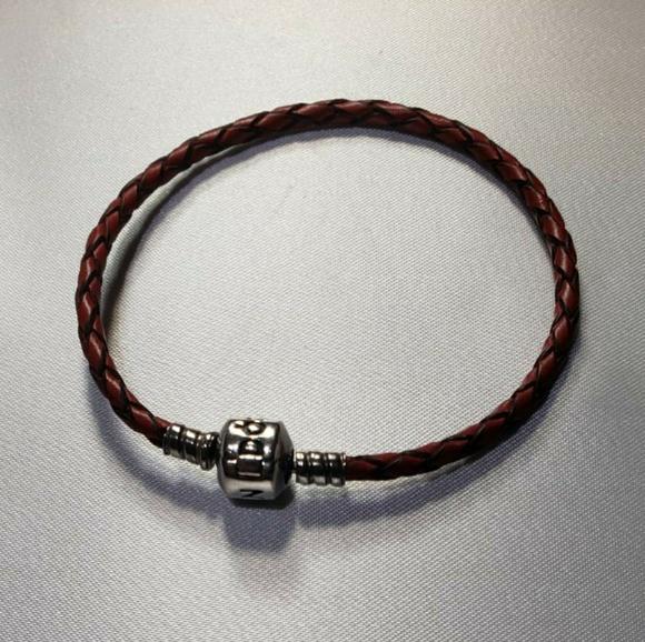 Pandora Jewelry - Pandora red leather bracelet